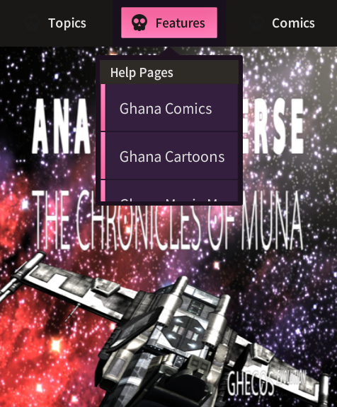 Ghana Games Mobile Center Main Menu