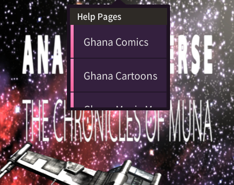 Ghana Games Mobile Center Main Menu